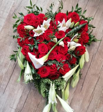 Blütenherz rote Rosen